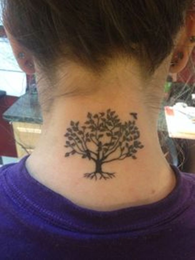 16 Tree Of Life Tattoos On Neck
