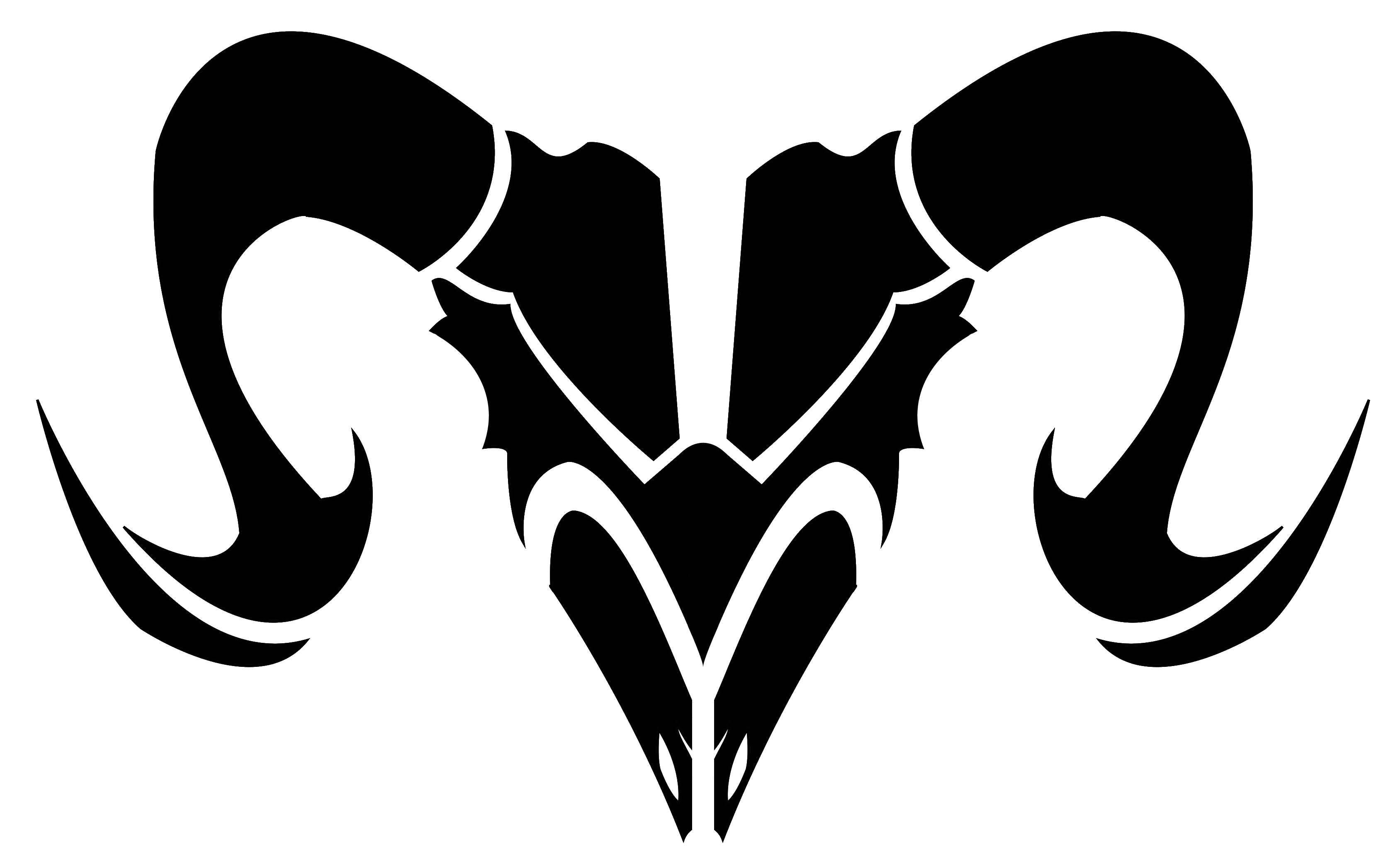 Tattoo designs tribal aries zodiac sign tattoos golfian com - Awesome Black Tribal Aries Zodiac Sign Tattoo Stencil