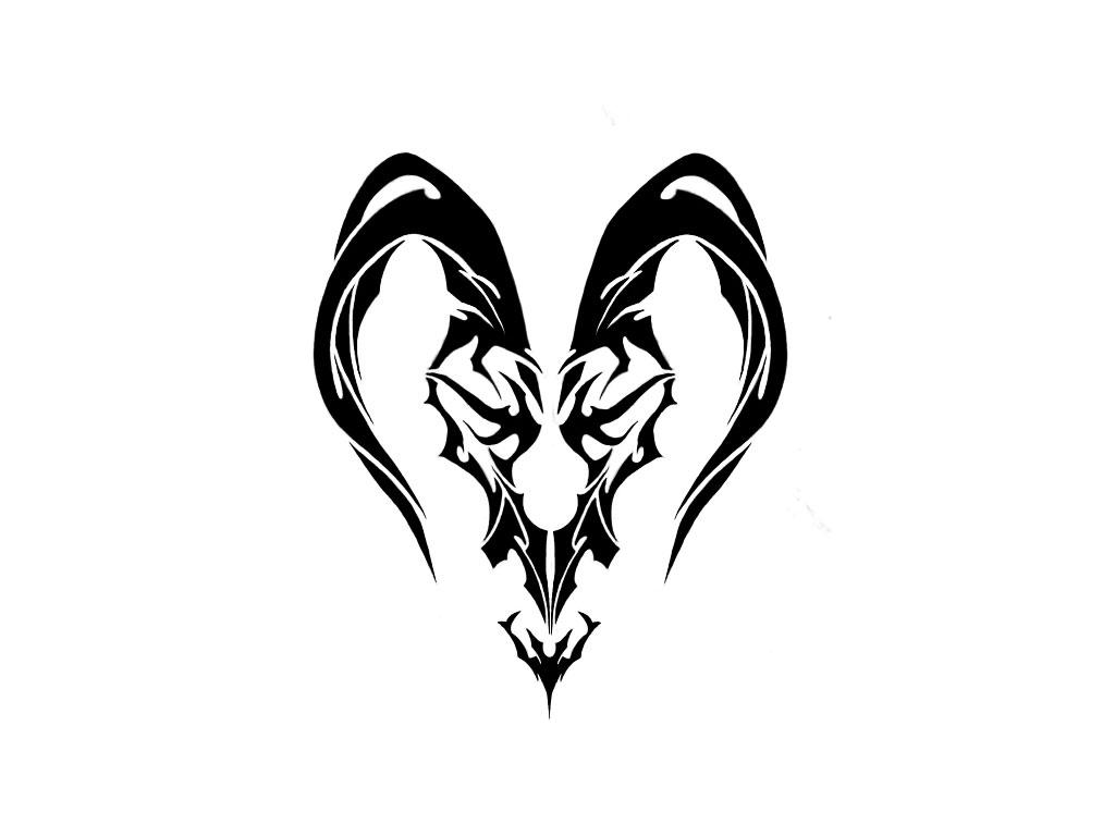 Sign tattoo designs - Awesome Black Tribal Capricorn Zodiac Sign Tattoo Design