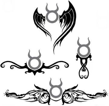 7e2b18501 Awesome Black Tribal Taurus Zodiac Sign Tattoo Designs By Daniel