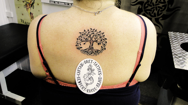 094221939b67d Awesome Celtic Tree Of Life Tattoo On Girl Upper Back