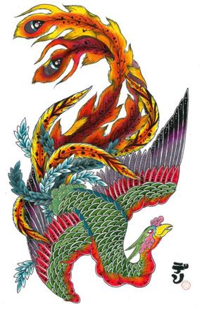 40+ Unique Japanese Phoenix Tattoos