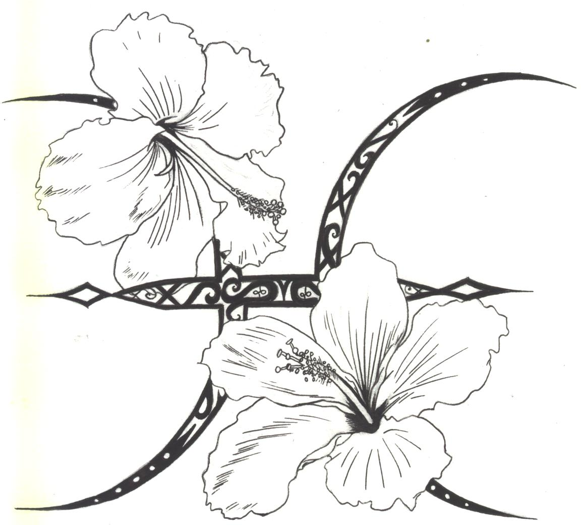 50 zodiac sign with flowers tattoos awesome pisces zodiac sign with hibiscus flowers tattoo stencil by d angeline izmirmasajfo Images