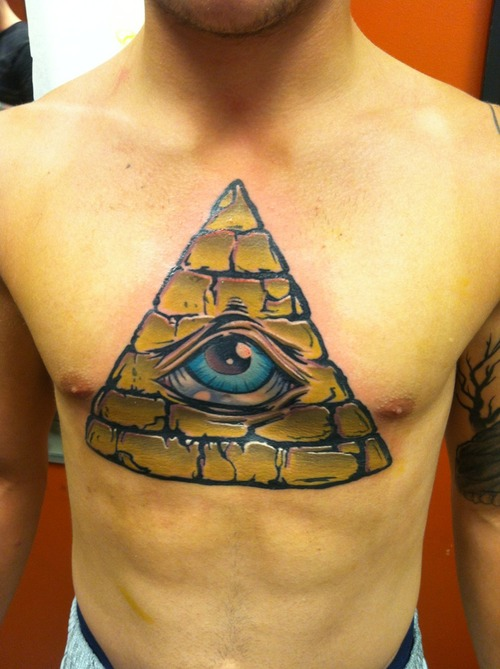 20 Triangle Tattoos On Chest