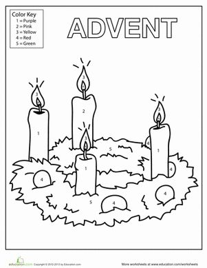 Baptism Wishes Candles And Wreath Coloring Page