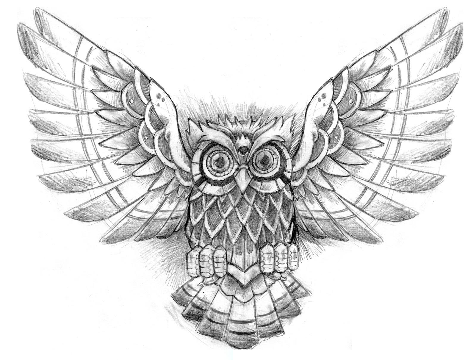 55 amazing flying owl tattoos ideas
