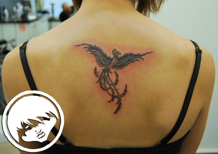 52 black phoenix tattoos collection for Phoenix tattoo on back