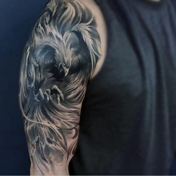 36 phoenix tattoos on sleeve. Black Bedroom Furniture Sets. Home Design Ideas