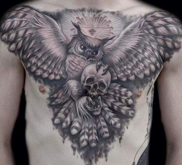 55 amazing flying owl tattoos ideas
