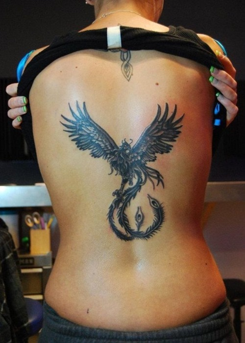 37 phoenix tattoos for girls. Black Bedroom Furniture Sets. Home Design Ideas