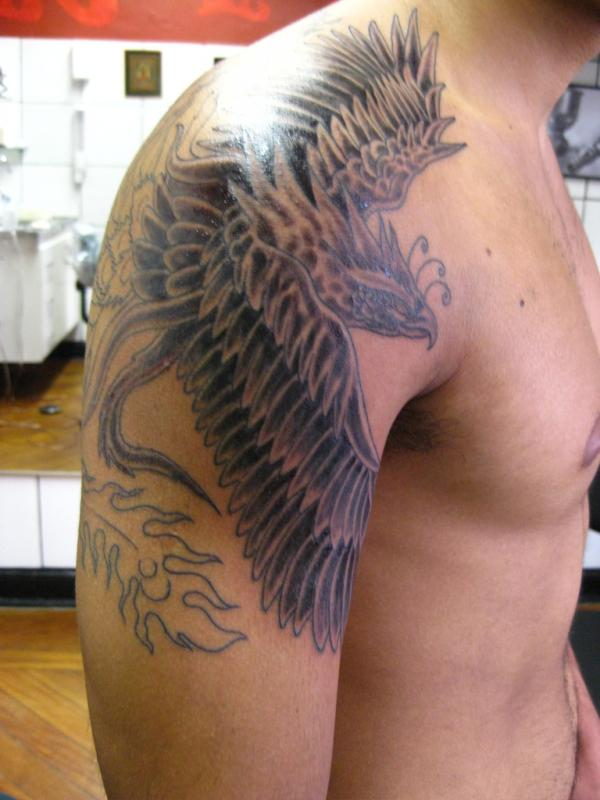 35 amazing phoenix tattoos on arm. Black Bedroom Furniture Sets. Home Design Ideas