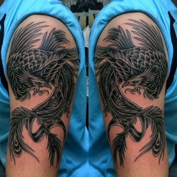 35+ Amazing Phoenix Tattoos On Arm
