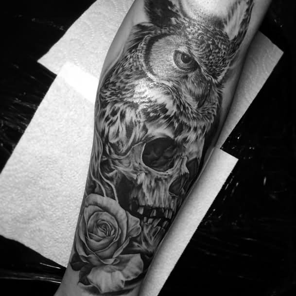 58 best skull owl tattoos collection. Black Bedroom Furniture Sets. Home Design Ideas