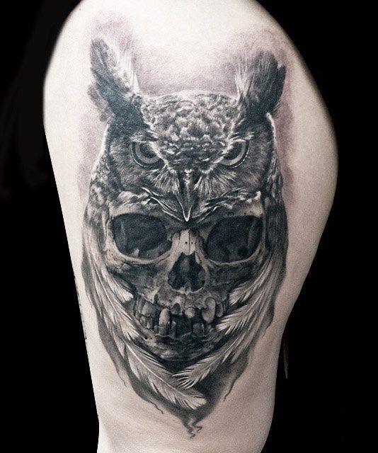 20 owl skull tattoos designs for Owl tattoo skull