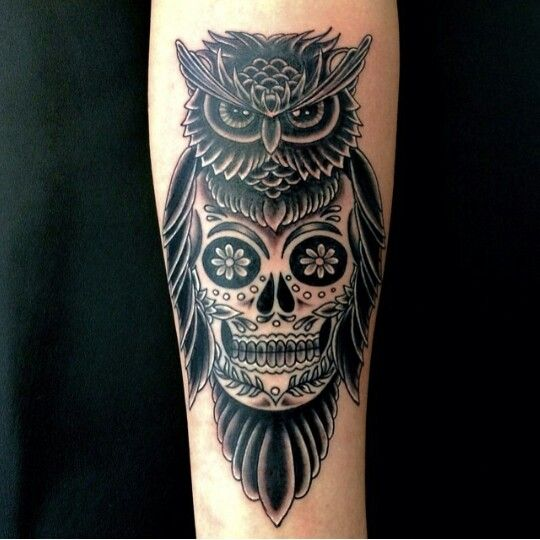 58 Best Skull Owl Tattoos Collection