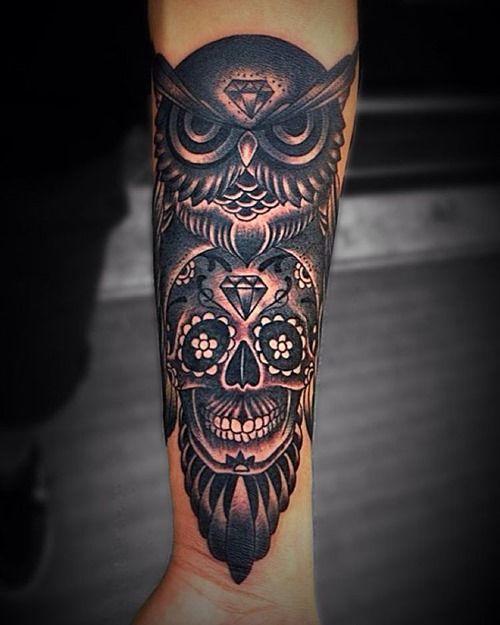 51+ Owl Tattoos On Arm
