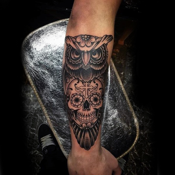 Skull Tattoos On Forearm Tattoo Collections