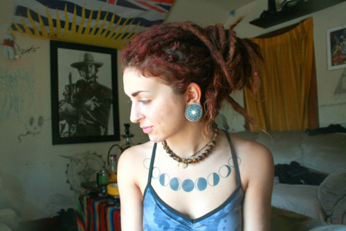 25 phases of the moon tattoos for girls