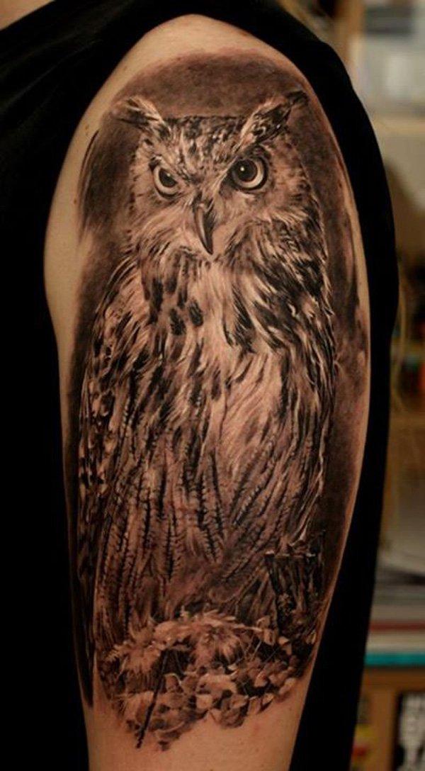 30 realistic owl tattoos ideas. Black Bedroom Furniture Sets. Home Design Ideas