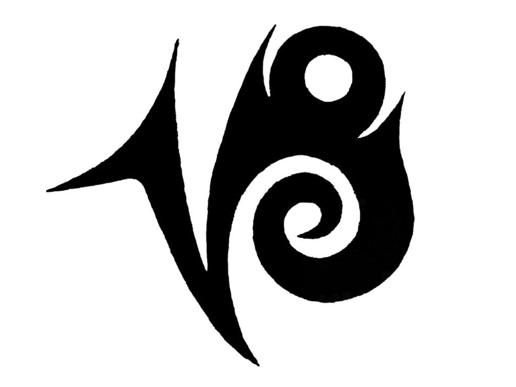 Tribal-Tattoos Black-Ink-Tribal-Capricorn-Zodiac-Sign-Tattoo-Design