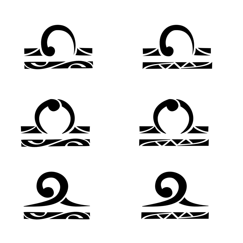 Sign tattoo designs - Black Maori Six Libra Zodiac Sign Tattoo Designs
