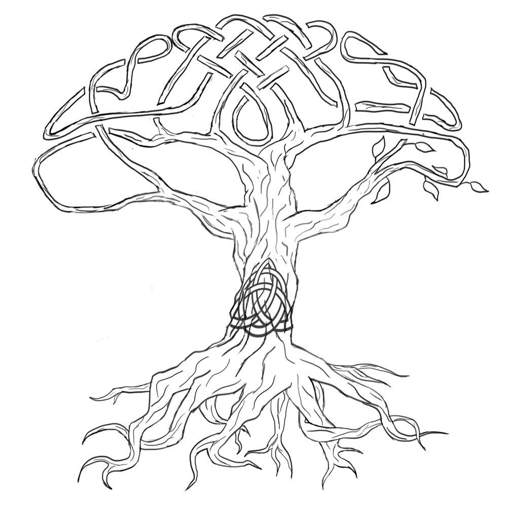 подключичный дерево с корнями рисунок шаблон распечатать кардамене основном галечные