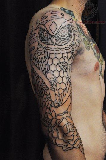 Rose Tattoo Sleeve Outline 60+ Fantastic O...