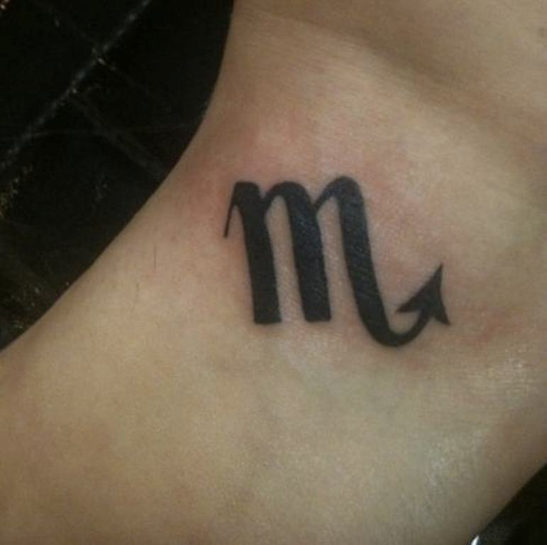 Scorpio Horoscope Symbol Tattoo