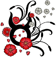 Black Taurus Zodiac Sign With Flowers Tattoo Design