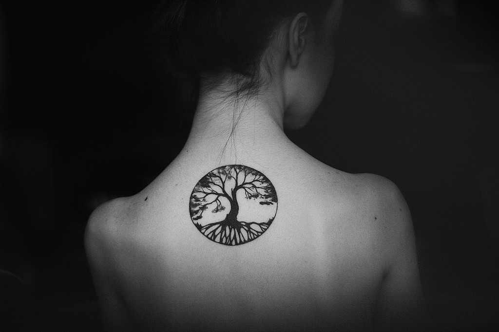 16 tree of life tattoos on neck