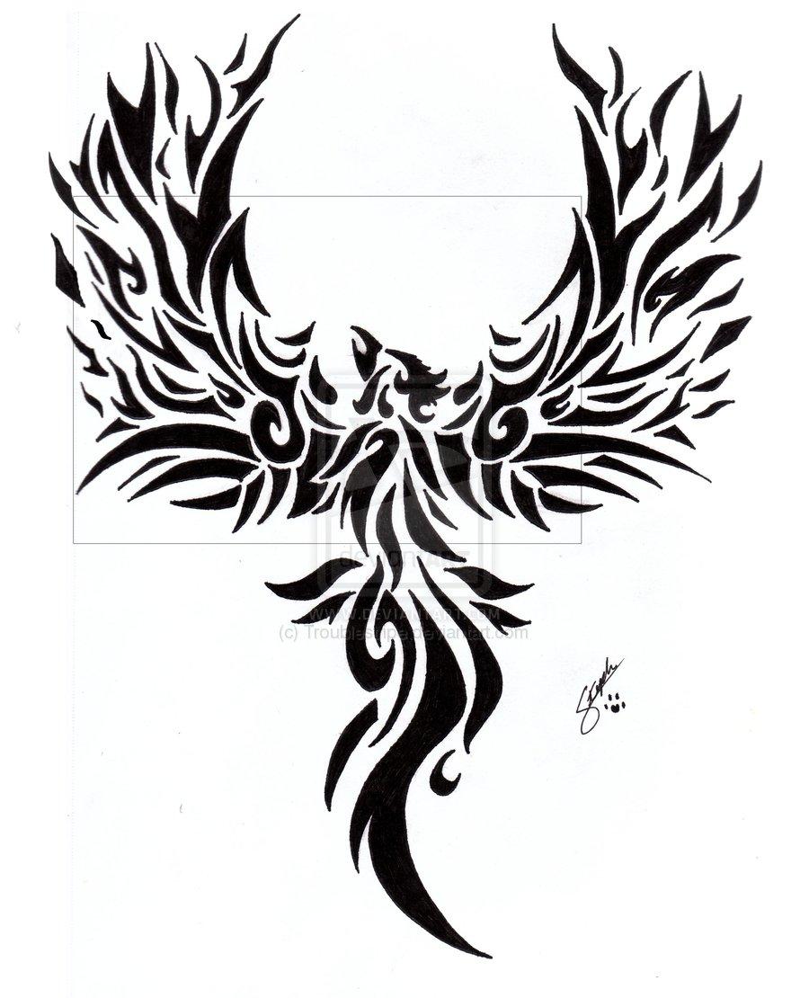 48 tribal phoenix tattoos ideas. Black Bedroom Furniture Sets. Home Design Ideas