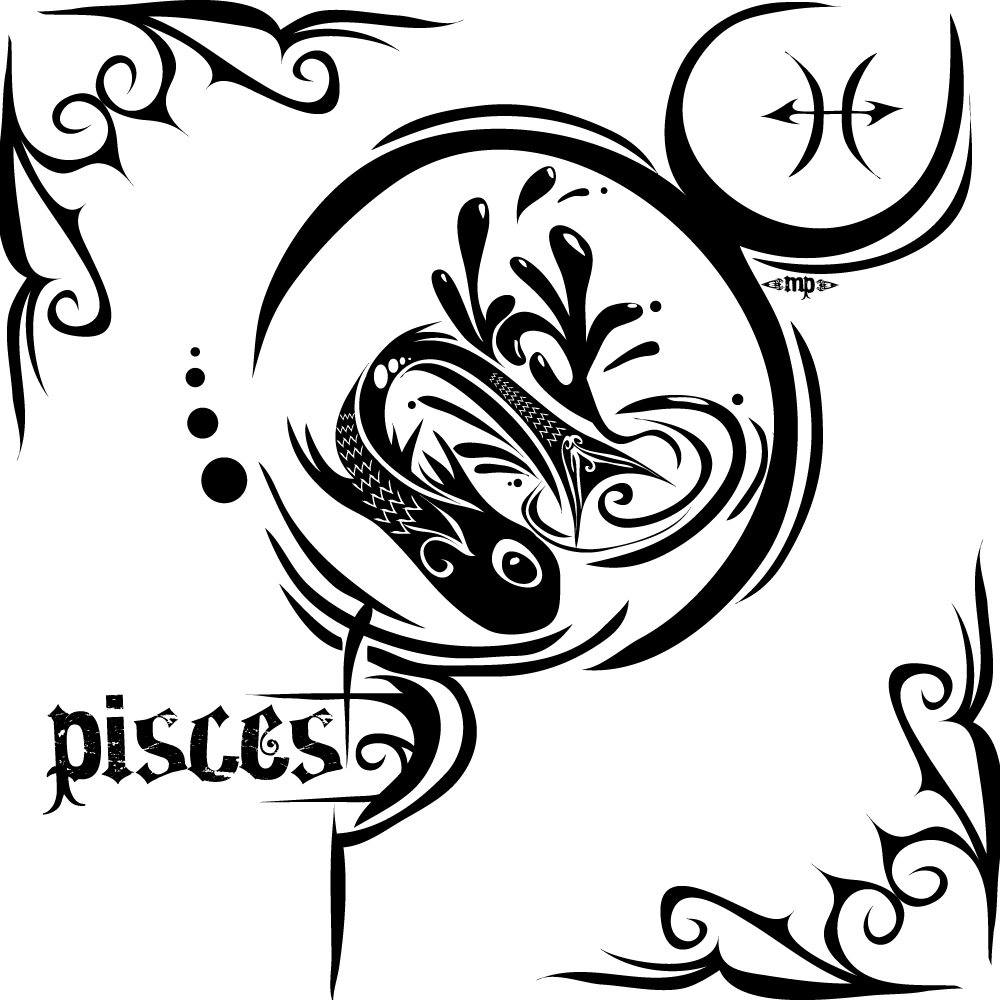 50 zodiac pisces tattoos designs and ideas black tribal pisces zodiac sign tattoo design by mptribe biocorpaavc Choice Image