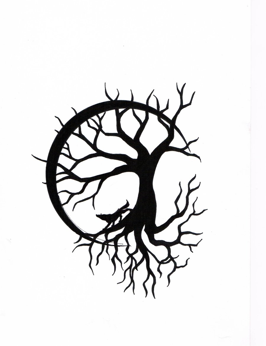 Celtic Moon Stencil Printable : Latest tree of life tattoos designs