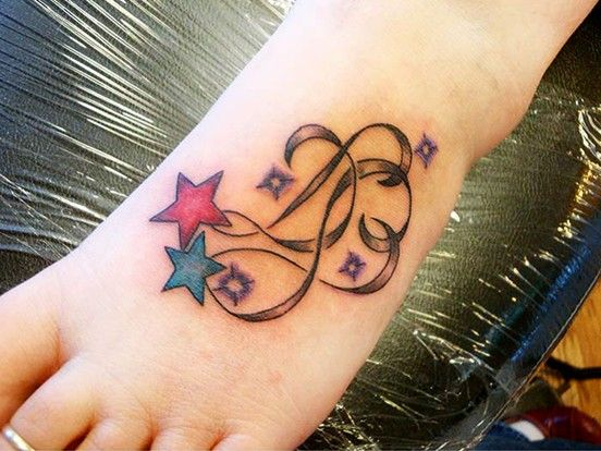 28 cute stars foot tattoos ideas. Black Bedroom Furniture Sets. Home Design Ideas