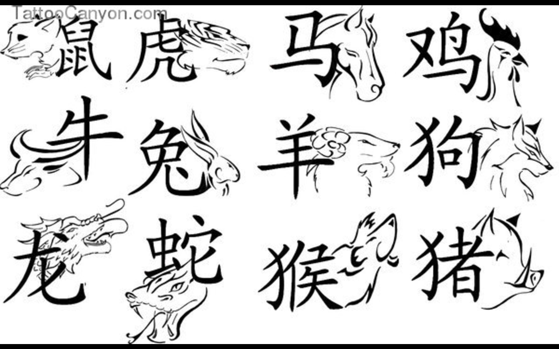 50 zodiac sign tattoos designs chinese zodiac sign with symbol tattoo flash by maximo willms buycottarizona Image collections