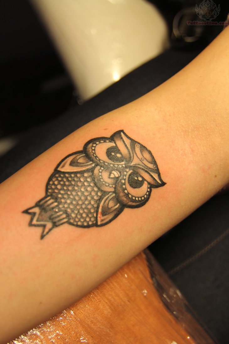 50 small owl tattoos collection for Black tattoo ink