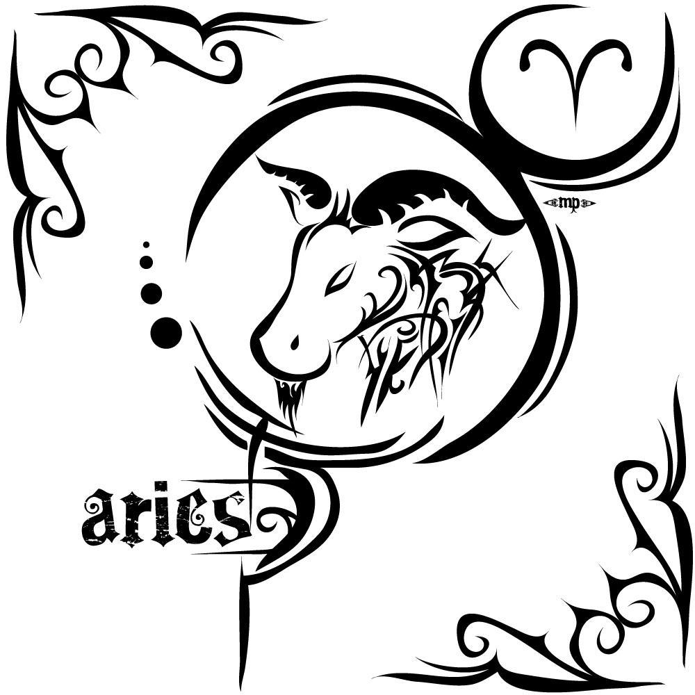 58 tribal zodiac sign tattoos designs classic black tribal aries zodiac sign tattoo stencil biocorpaavc