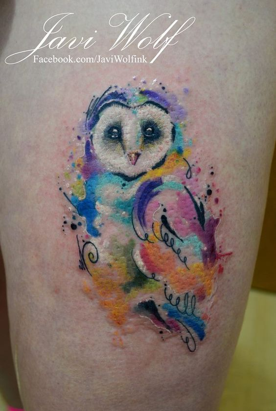 60 watercolor owl tattoos collection. Black Bedroom Furniture Sets. Home Design Ideas