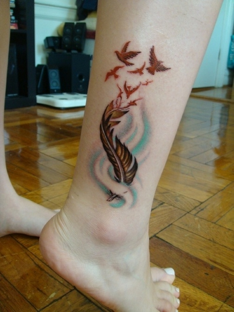 42 indian feather ankle tattoos for Indian ink tattoo