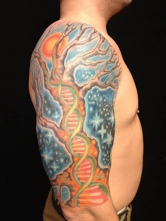 45 Colorful Tree Of Life Tattoos