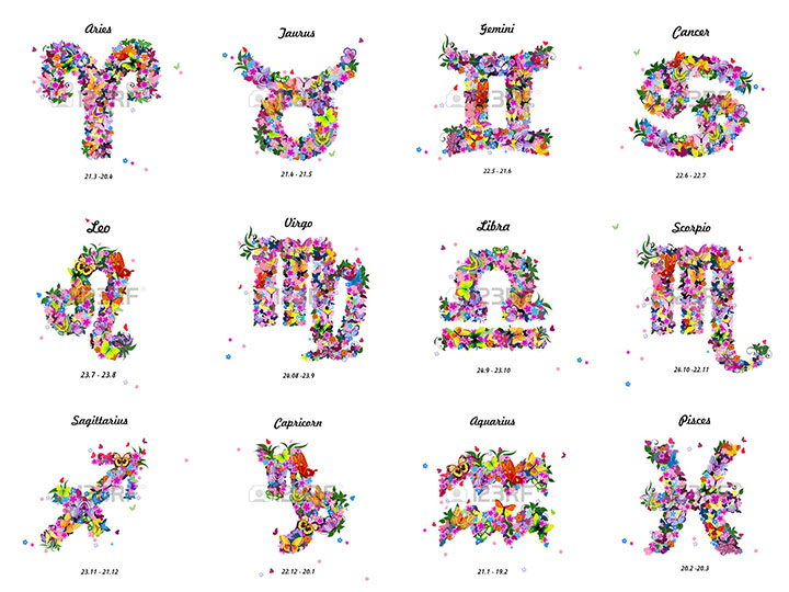 50  Zodiac Sign With Flowers Tattoos