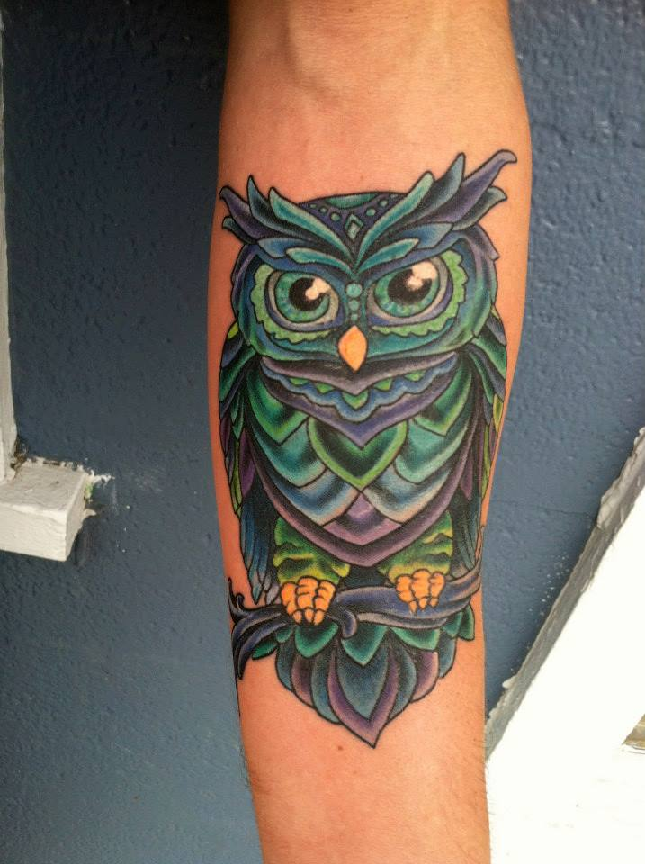 40+ Colorful Owl Tattoos Collection