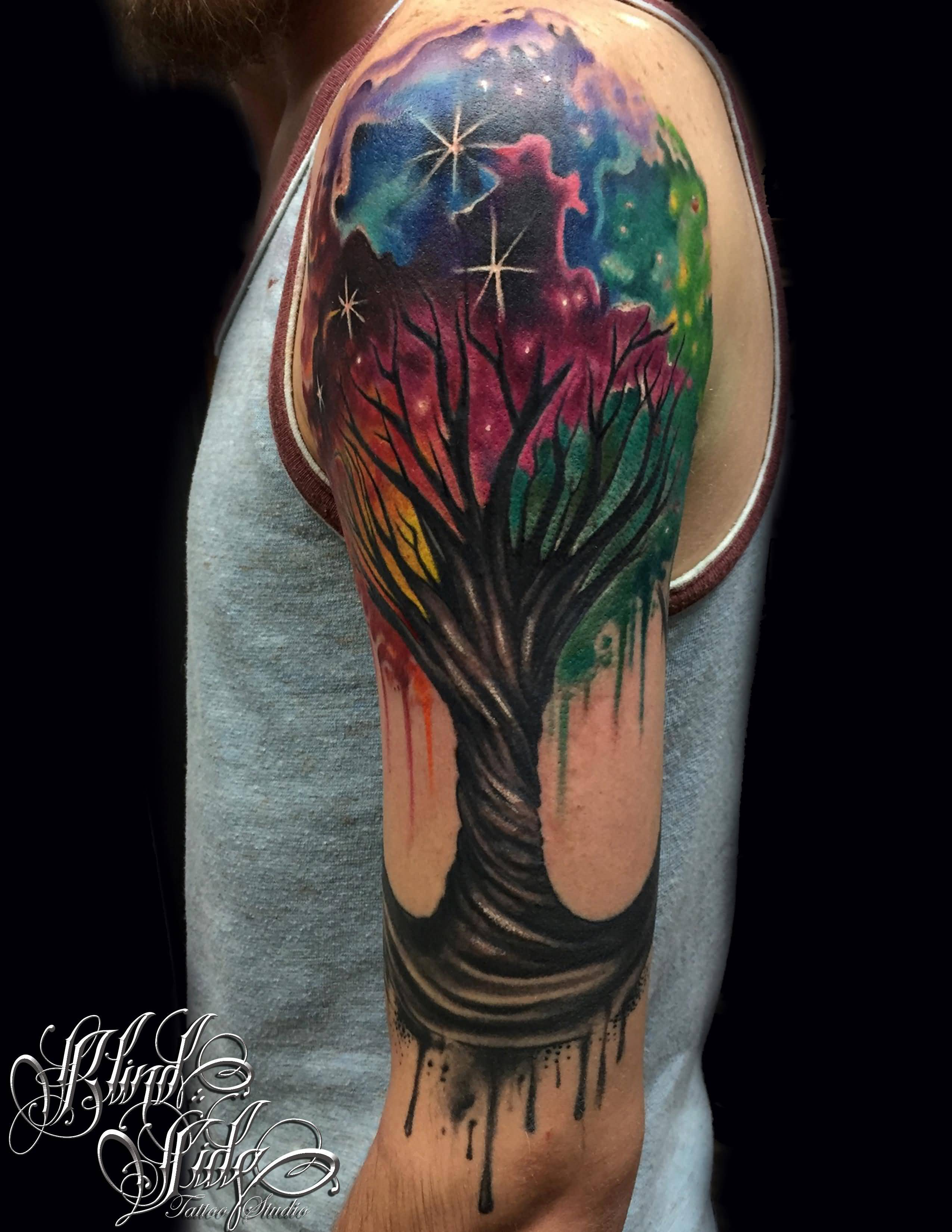 Tree Of Life Tattoo With Names: 45+ Colorful Tree Of Life Tattoos