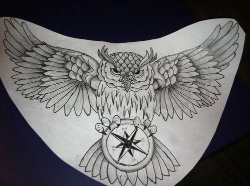 Owl Chest Tattoo Designs