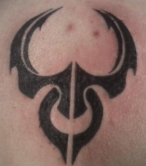 cab6b45de Cool Black Ink Taurus Zodiac Sign Tattoo Design