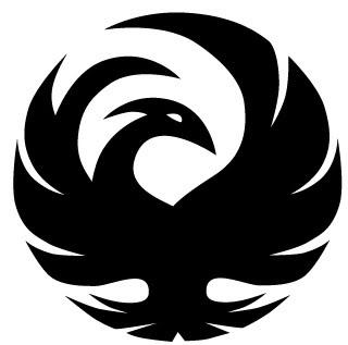 Cool Black Phoenix Symbol Tattoo Design
