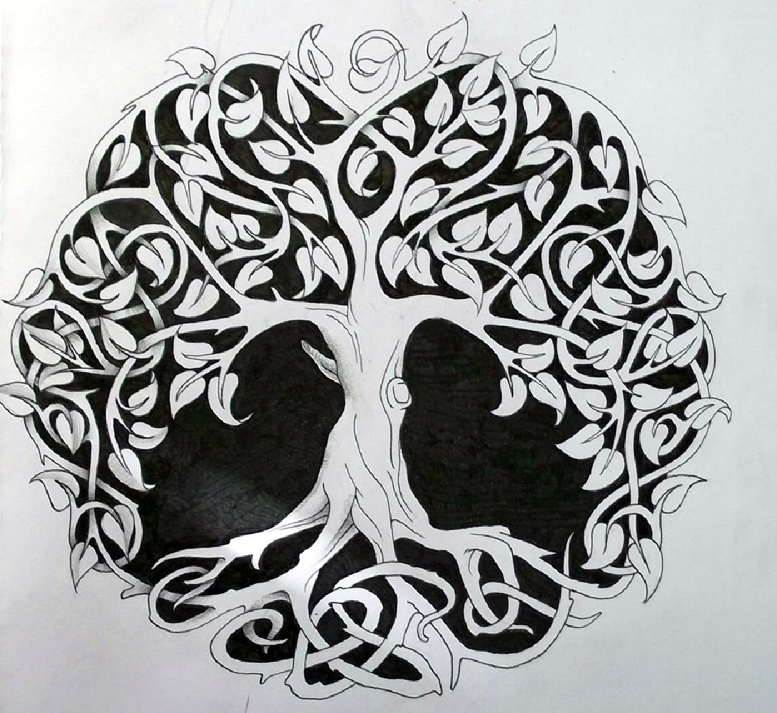 6cdcda2dcc450 Cool Celtic Tree Of Life Tattoo Design By Abigail Cox