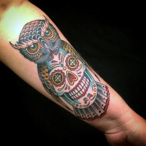 20+ Owl Skull Tattoos Designs