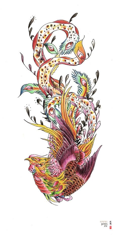50 latest phoenix tattoos designs. Black Bedroom Furniture Sets. Home Design Ideas