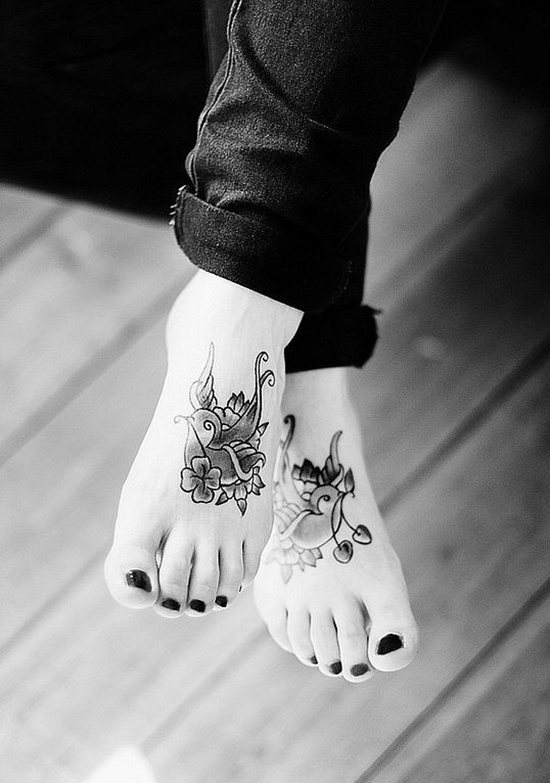 Feet tattoos tumblr tattoo collections 60 cute foot tattoos collection urmus Images